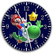 "Super Mario Yoshi wall Clock 10"" will be nice Gift and Room wall Decor W15"