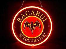 """12""""x12"""" Bacardi 3D Carved Neon Sign Beer Bar Pub Lamp Light Decor Artwork"""