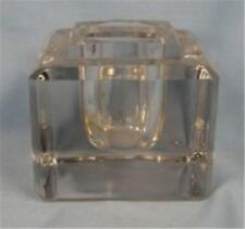 Vintage Inkwell Clear Glass Wheating Marks Heavy Writing Accessory (O)