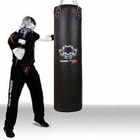 TurnerMAX Filled Punch Bag Set Rex Leather Boxing Training Gloves kick Pads MMA