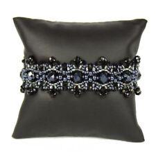 BR186-205 Obsidian Black Beads Crystalicious Bracelet Fair Trade Artisan Jewelry