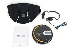 Insignia Portable CD Player FM Tuner MP3 WMA CD ns-p4113 Headphones Case