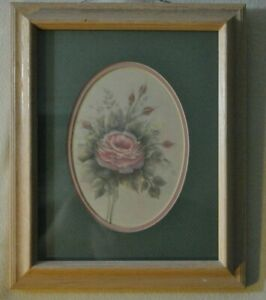 vintage 1991 Print By Brush Strokes Double Matted Under Glass