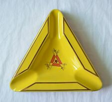 New Yellow Triangle Montecristo Ceramics Cigar Ashtray  3 Cigars Home Office