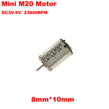 Mini FF-M20 Motor DC 3V 5V 6V 23000RPM High Speed Micro 8mm*10mm Motor DIY Toy
