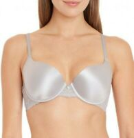 Satin French Lace Molded cup DESIGNER $75! Underwire 4 Colors Demi Bra 26 sizes!