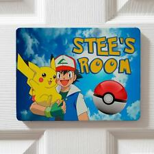 Personalised Pokemon Themed Children's Bedroom Door Kids Name Sign Plaque DPE2