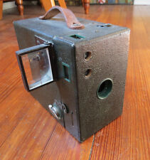 RARE KODAK BROWNIE A2 CAMERA IN GREEN with FOLD OUT VIEW FINDER LENS WINDOW RARE