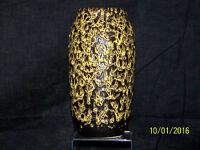 Scheurich Keramik Studio Art Pottery Fat Lava Glaze with Craters MidCentury Vase