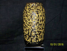 Scheurich Keramik Studio Art Pottery Fat Lava Glaze with Craters MidCentury Vase