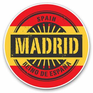 2 x Vinyl Stickers 15cm - Madrid Spain Reino De España Travel Cool Gift #6014