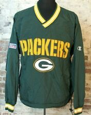 Vintage 90s Green Bay Packers Champion Jacket REVERSIBLE Pullover Windbreaker M