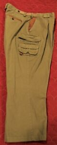 Orvis Tan/Green Size 42 Cargo Leather Trim Men's Hunting Hiking Outdoor Pants