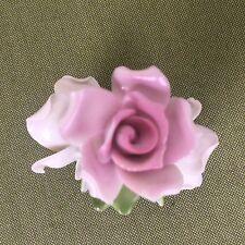 Antique Porcelain Flower Floral Napkin Holders