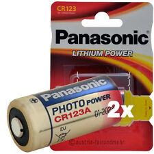 """2x CR123A CR123 Foto-PHOTO-Batterie Lithium PANASONIC"