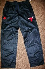 CHICAGO BULLS STARTER Sweat Pants with sewn BULLS Logo MEDIUM, XL 2X  BLACK