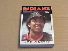 Cleveland Indians Joe Carter 1986 Topps Team Set