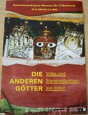 GERMAN EXHIBITION POSTER 1993 - THE OTHER GODS - FOLK AND TRIBE BRONZE INDIA