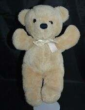 "Dakin Cuddles Teddy Bear 15"" Large Tan Brown 1979 Vintage Plush Stuffed Animal"