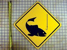 Fishing Yellow Aluminum Sign