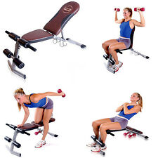 Fitness Exercise Weight Lifting Bench Home Workout Adjustable Incline Decline