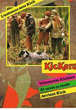 PUBLICITE ADVERTISING 114  1981  KICKERS   vetements enfants