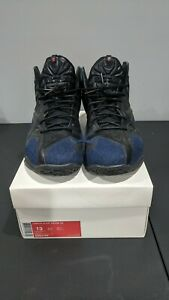 Nike Lebron XI 11 EXT Basketball Shoe Denim QS Black 659509-004 SZ 13