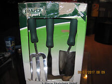 DRAPER 3 PIECE GARDEN TOOL SET NEW , DAMAGED BOX