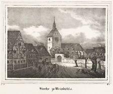 Weinböhla-St. martins-iglesia-iglesias-galería - litografía 1837