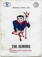 1973 Scanlens Large Sticker (8) Melbourne Demons #