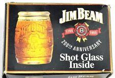 Jim Beam Glas USA 1995 Stamper Stamperl Schnapsglas shot glass Fass Design