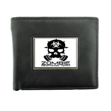 Black Bifold Leather Material Wallet Zombie Design-006 Zombie Response Team