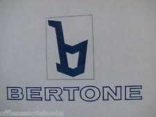 Original BERTONE X1/9 Dealer Sales & Service Agreement Terms Provisions Book New