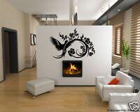 Chinesisch Vogel mit Blume, Ranke Wandtattoo #ch03