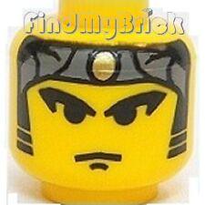 H028A Lego Head Ninja Bandana Gold Dot Sideburns Pattern 6093 3053 3052 NEW