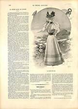 COSTUME ROBE MODE FEMME AUTOMNE FRANCE 19 XIX JUILLET 1896 SIÈCLE 1896