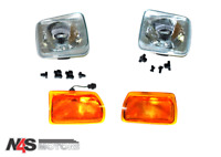 LAND ROVER DISCOVERY 1 FRONT HEADLIGHTS & INDICATOR LAMPS SET .PART- N4S 053