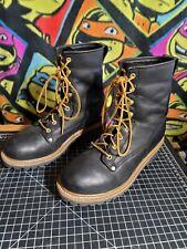 Men's Carolina Boots CA1825 8D Logger Safety Steel Toe Work Boot Black Leather
