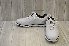 FootJoy Pro SL Spikeless Waterproof Golf Shoes, Men's Size 8.5XW, White/Grey NEW