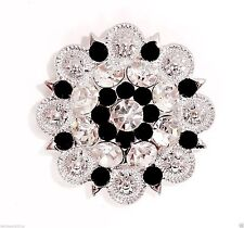 Western Cowgirl Rhinestone Concho Leather Bridle Rodeo Jewelry Crystal