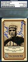RED GRANGE 1974 FLEER IMMORTAL ROLL SIGNED PSA/DNA AUTHENTIC AUTOGRAPH