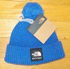 The North Face Baby Beanie Knit Cap Pom Pom Hat Box Logo XXS 0-6 Months NWT