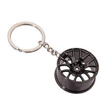 Metal Black Creative Zinc Alloy Car Wheel Hub Key Chain Key Pendant Decoration