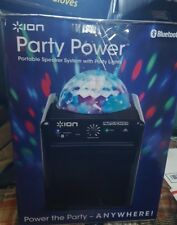ION party power bluetooth portable speaker system w/party lights NEW