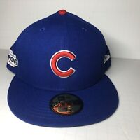 Chicago Cubs MLB New Era 59FIFTY 2016 World Series Champs Fitted Hat  Blue 7 3/4