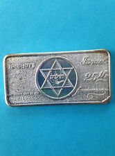 1973 Patrick Mint Israel 25th Star of David PAT-13 Silver Art Bar P0955