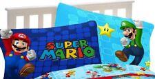 Super Mario Reversible Pillowcase - Standard Size - Microfiber - Mario & Luigi