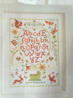 CROSS STITCH CHART French Style Baby Newborn Sampler Alphabet Picture PATTERN
