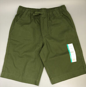 New Boys  Large (10-12) Stretch Tough Core Shorts Green school uniform approved