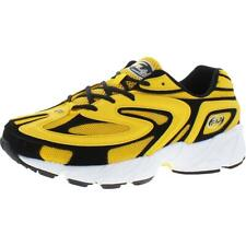 Fila Mens Creator Yellow Mesh Sneakers Athletic 10 Medium (D) BHFO 4541